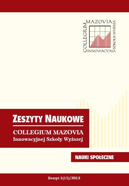 Zeszyty naukowe, Collegium Mazovia, Nauki społeczne