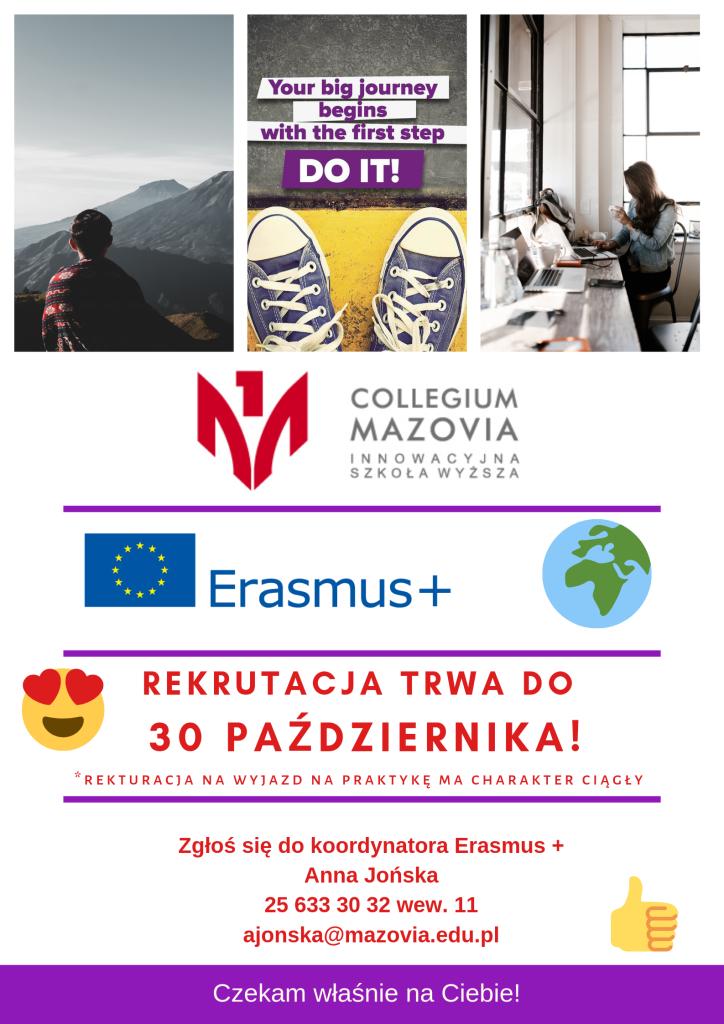Erasmus + białe tło