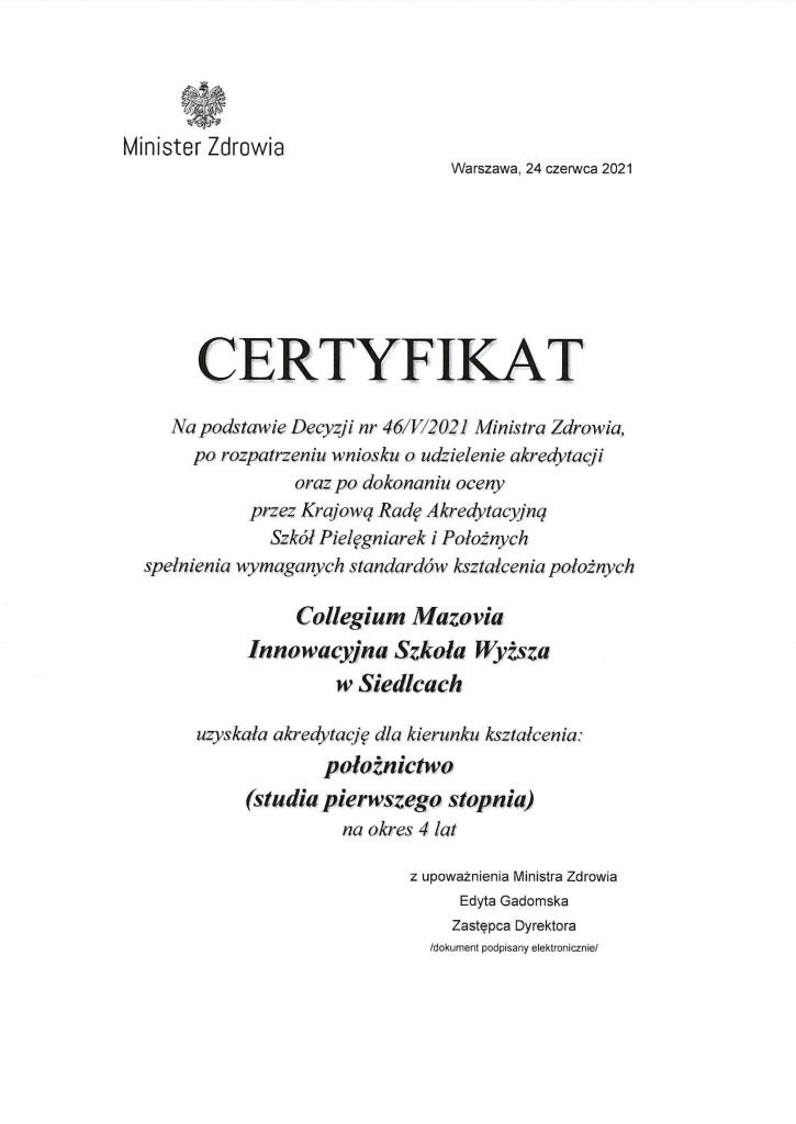 Certyfikat MZ